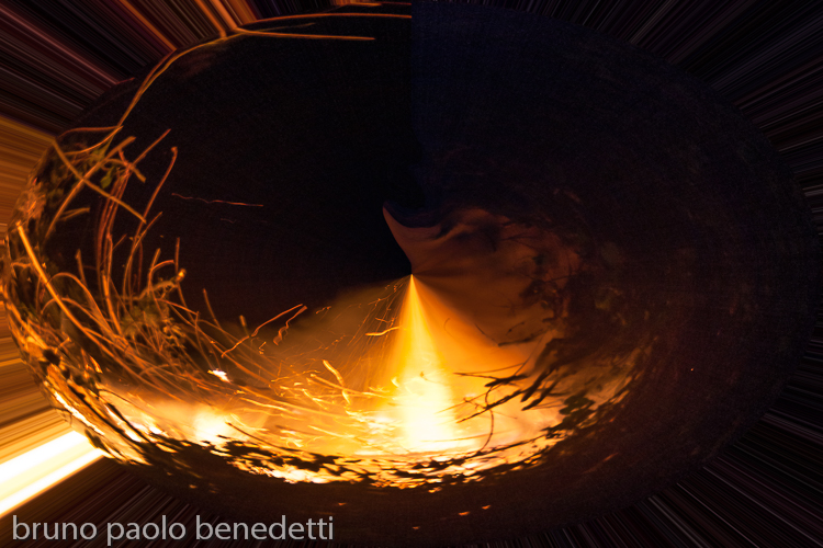 fire flame with stregnt in a whirpool of burning elements