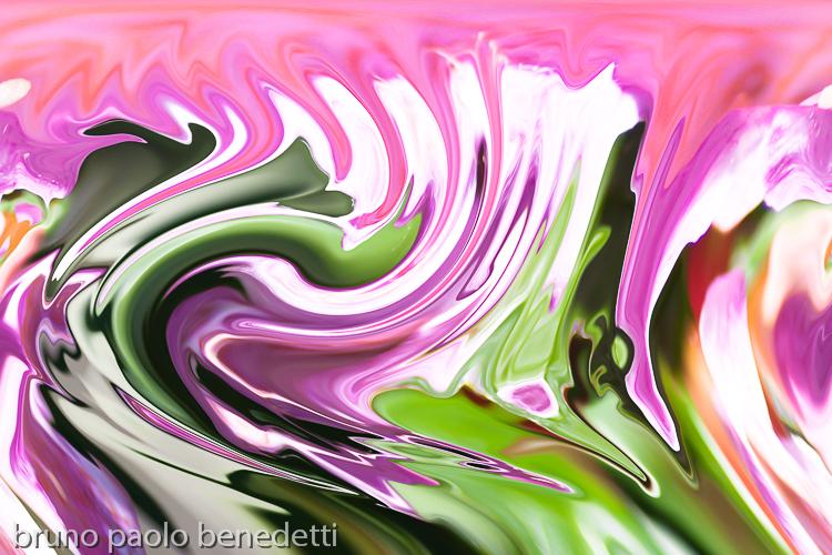 violet and pink color fluid wave