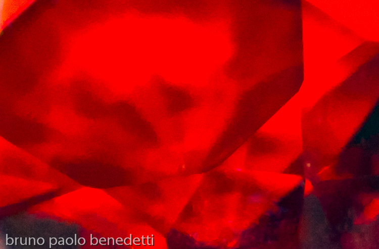 red transparent floating geometric abstract shapes