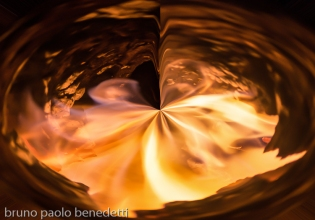 abstract non objective photography: fire vortex