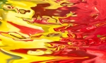 abstract non objectiv brilliant red and yellow horizontal high contrast color flow