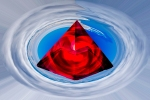 red crystal pyramid in the sky alchemy symbolism